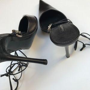 Cesare Paciotti Shoes - Cesare Paciotti Leather Lace Up Heels Size 10